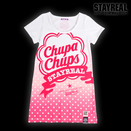STAY REAL X Chupa Chups Sweetie Secret T ★ ★ [ 東京限定 ] 水蜜桃粉