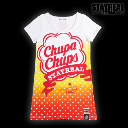 STAY REAL X Chupa Chups Sweetie Secret T  ★ ★ [夏日限定] 柳橙黃