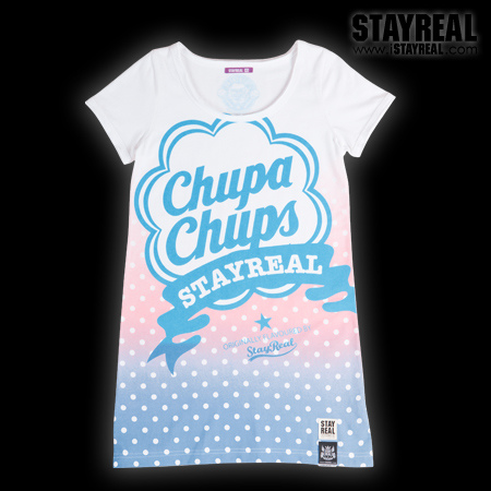 STAY REAL X Chupa Chups Sweetie Secret T ★ ★ [ 夏日限定 ] 薄荷藍