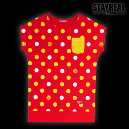 STAY REAL X Chupa Chups Dot Dot Lollipop T (Red)