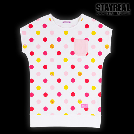 STAY REAL X Chupa Chups Dot Dot Lollipop T (White)