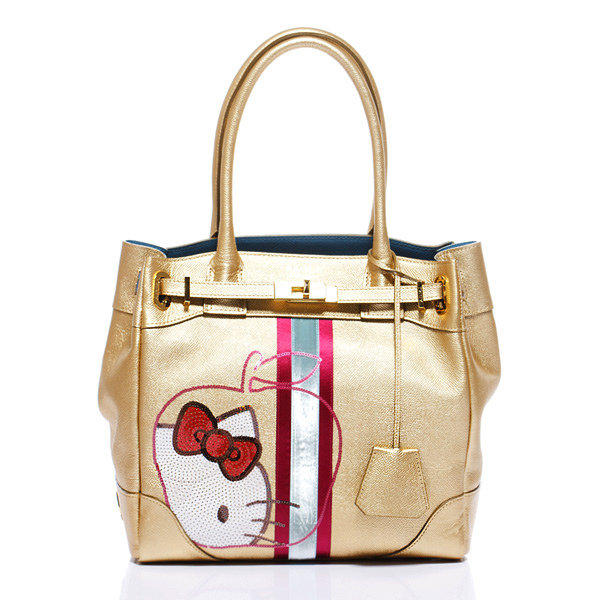 【A.D.M.J】 Kitty Apple Spangle Cova-Tote (GOLD) ★ 耶誕限定款