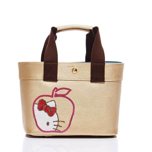 【A.D.M.J】 Kitty Apple Spangle Diary-Tote (GOLD) ★ 耶誕限定款