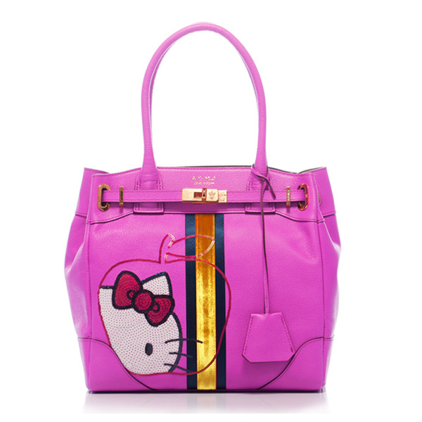 【A.D.M.J】Kitty Apple Spangle Cova-Tote (PINK) ★ mina日雜 推薦