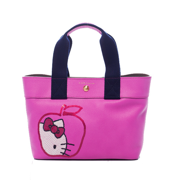 【A.D.M.J】Kitty Apple Spangle Diary-Tote (PINK) ★ GLA雜誌 介紹