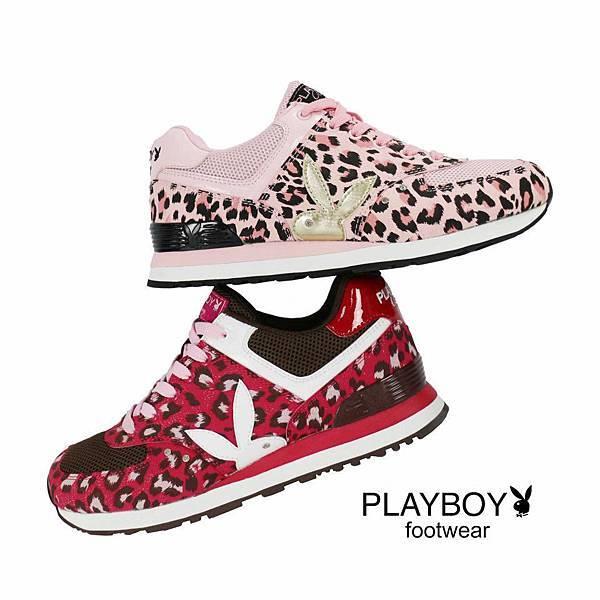 PLAYBOY運動美學 ~ 豹紋透氣網眼設計拼接造型運動鞋
