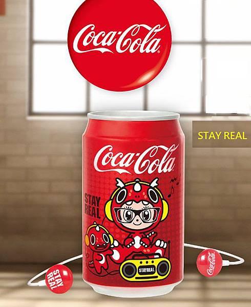 可口可樂CocaCola X STAYREAL 耳機罐組 (耳機+存錢筒)