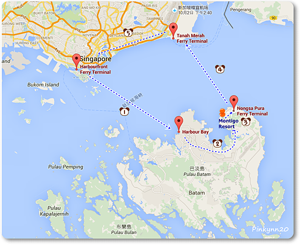 our Batam ferry Map