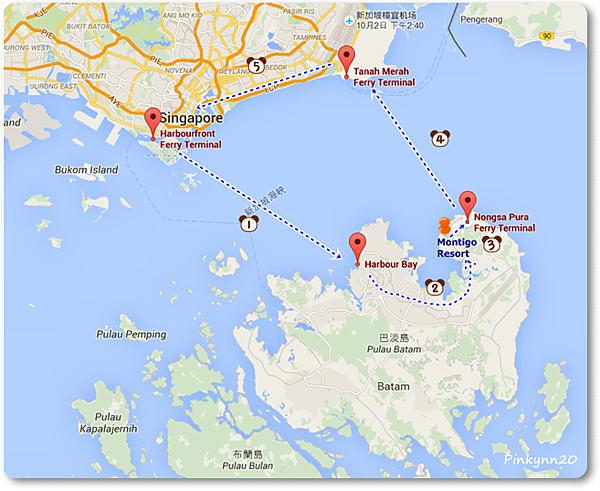 our Batam ferry Map