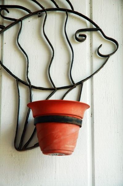 魚型花盆架