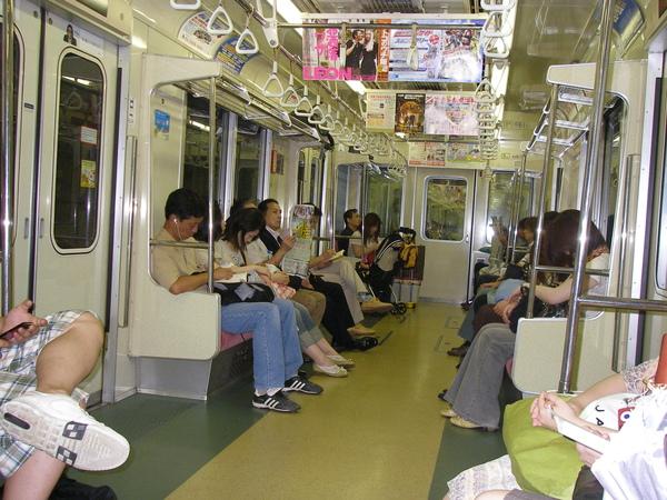 日本地下鐵跟台北捷運挺像的