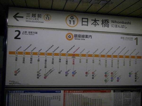 連路程牌站名都是漢字