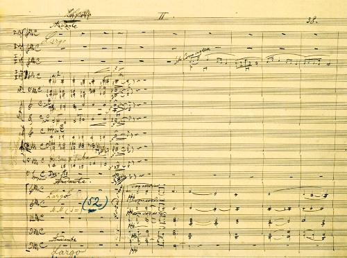 捷克經典 - 德弗乍克e小調第九號交響曲《新世界》手稿的第二樂章《念故鄉》
