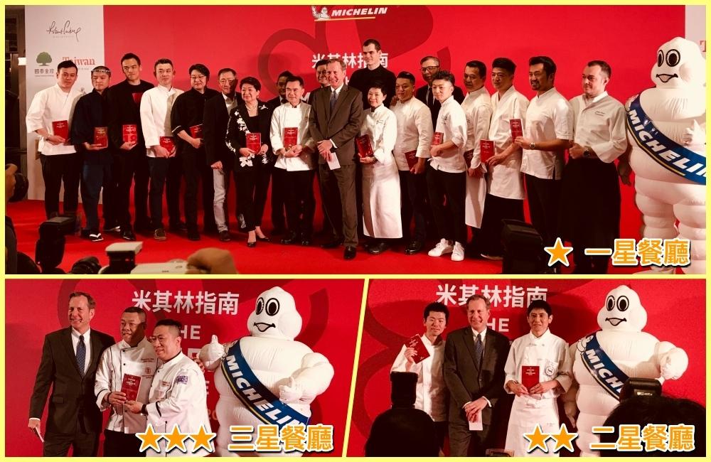 台北米其林指南2018得獎餐廳