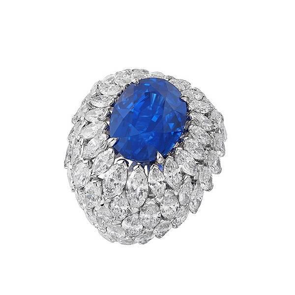 PIAGET 《Wings of Light-璀璨朝露》藍寶石及鑽石頂級珠寶戒指,建議售價NT$24,400,000_G34HT354