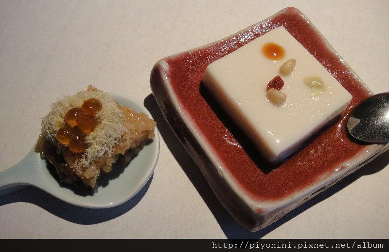 手工花生豆腐&茶油米糕鮭魚卵 - 大山無價