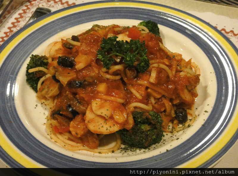 番茄蔬菜義大利麵 - 慕斯卡
