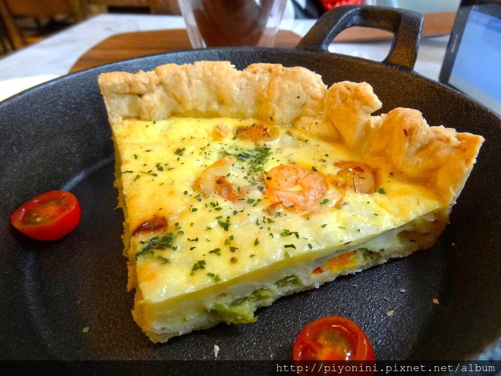 鮮蝦蘆筍鹹派@CAFE de GEAR