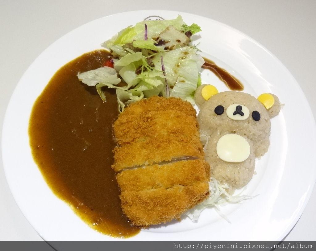拉拉熊豬排咖哩飯@Rilakkuma Café