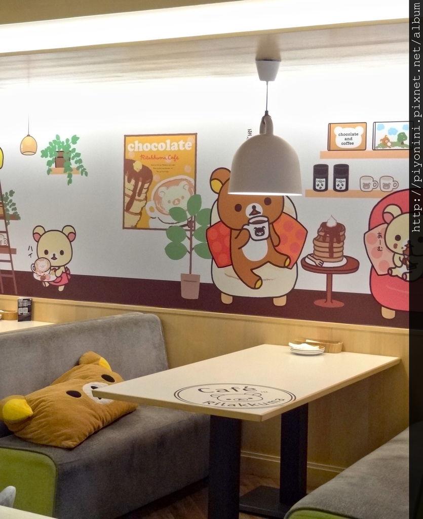 Rilakkuma Cafe 座位區