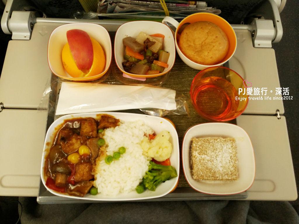 PJ大俠飛機特別餐長榮東方素食VOML