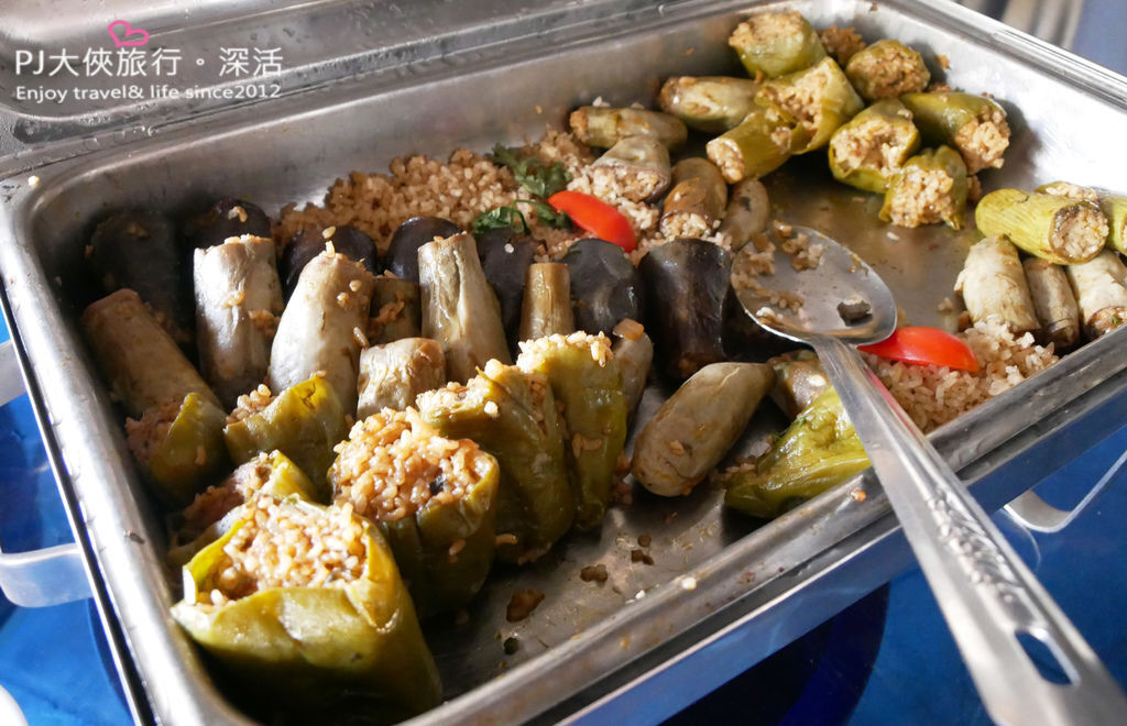 PJ大俠埃及經典傳統美食必吃烤餅蔬菜鑲飯