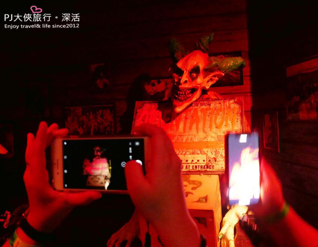 PJ大俠新加坡環球影城萬聖節驚魂夜活動體驗小丑鬼屋