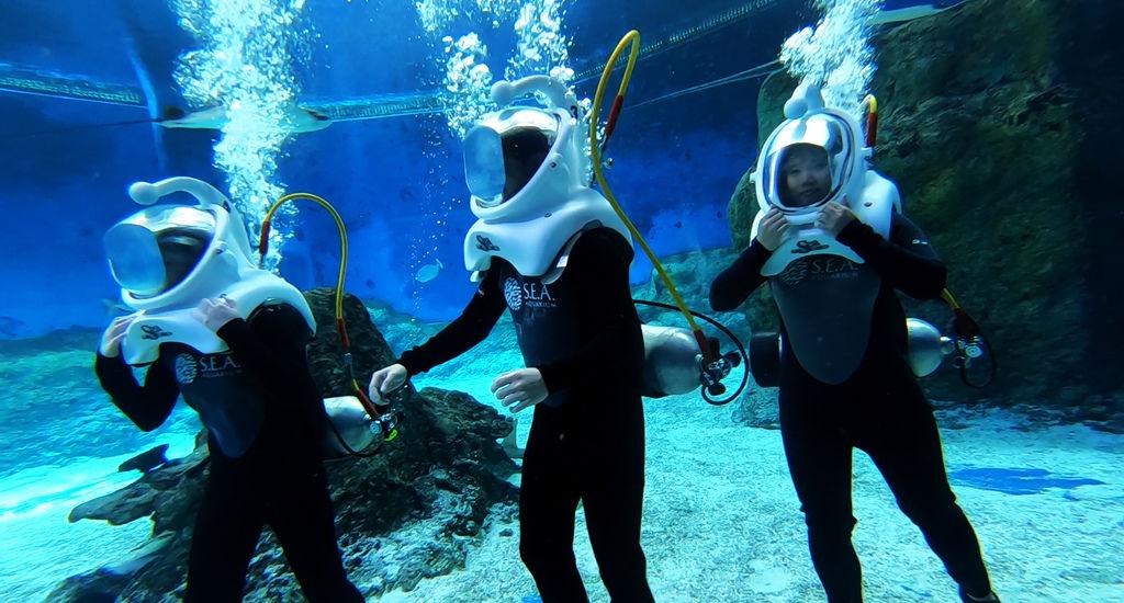 PJ大俠新加坡水上探險樂園海底漫步體驗