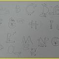 第3梯次隨堂檢測對馬的英文字母創意表現優異作品