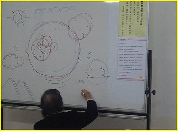 胖哥現場示範Q版吉祥賀卡構圖