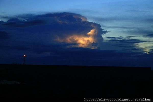 綠島的閃電