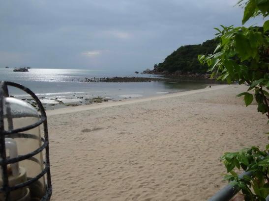 第一天在蘇美島住的私人海灘「Silver Beach」