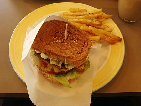 美式漢堡套餐(牛肉)