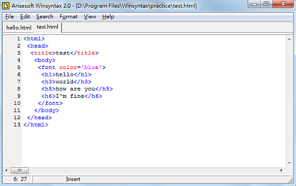 HTML段落