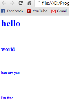 HTML段落結果