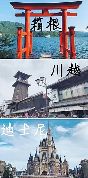 11. 箱根、川越、迪士尼