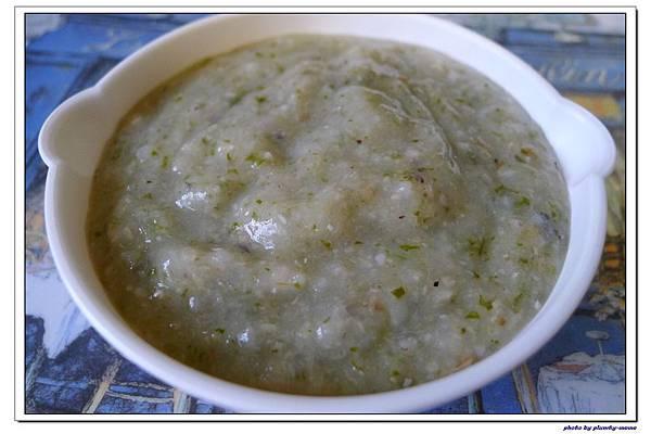 副食品-青蔥高麗菜蘆筍五穀粥