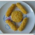 父親節副食品-番薯蛋黃米餅+燙青花椰菜 (7)
