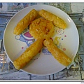 父親節副食品-番薯蛋黃米餅+燙青花椰菜 (13)