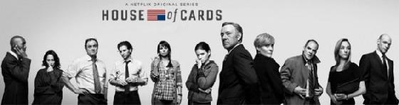 美國網路線上收視熱門影集《HOUSE OF CARDS 紙牌屋》,由奧斯卡金獎影帝凱文史貝西(Kevin Spacey)主演,今年初打敗同時段的HBO電視電影,是由美國影音服務公司NetFlix 公司製花30億台幣,重金以大數據方法企劃、研發、製作與發行。 (圖取自網路)