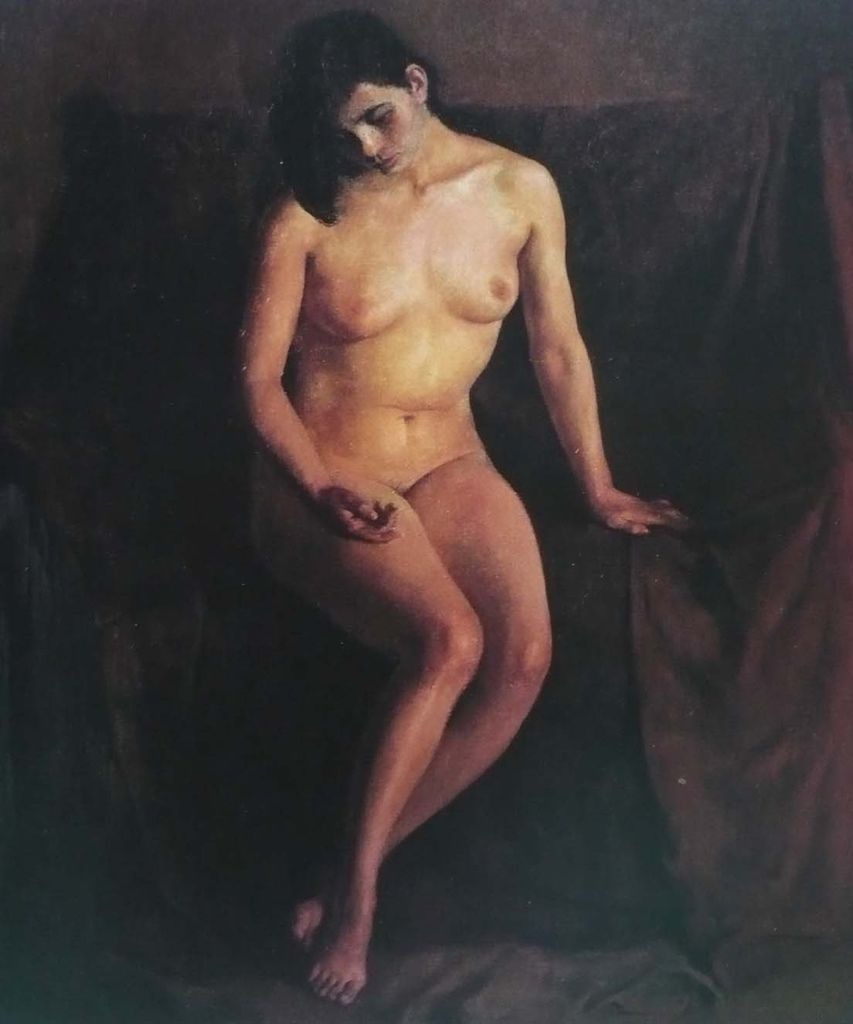 朱乃正油畫女人體 (翻拍自畫冊)