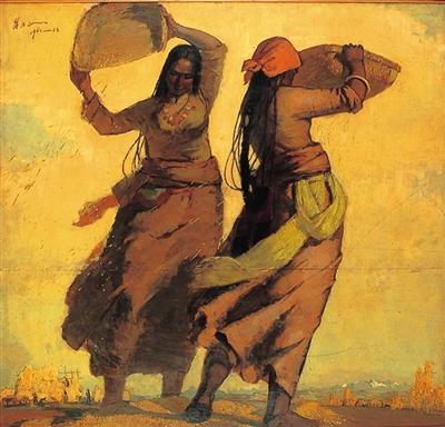 朱乃正在青海高原時期代表作《金色季節》 (翻拍自網路)