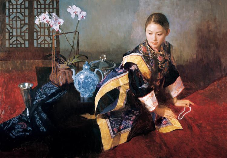 陳衍寧油畫《夜深沉》2005年 122X172cm  (翻拍自網路)