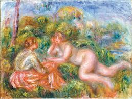 《沐浴之後》雷諾瓦畫作