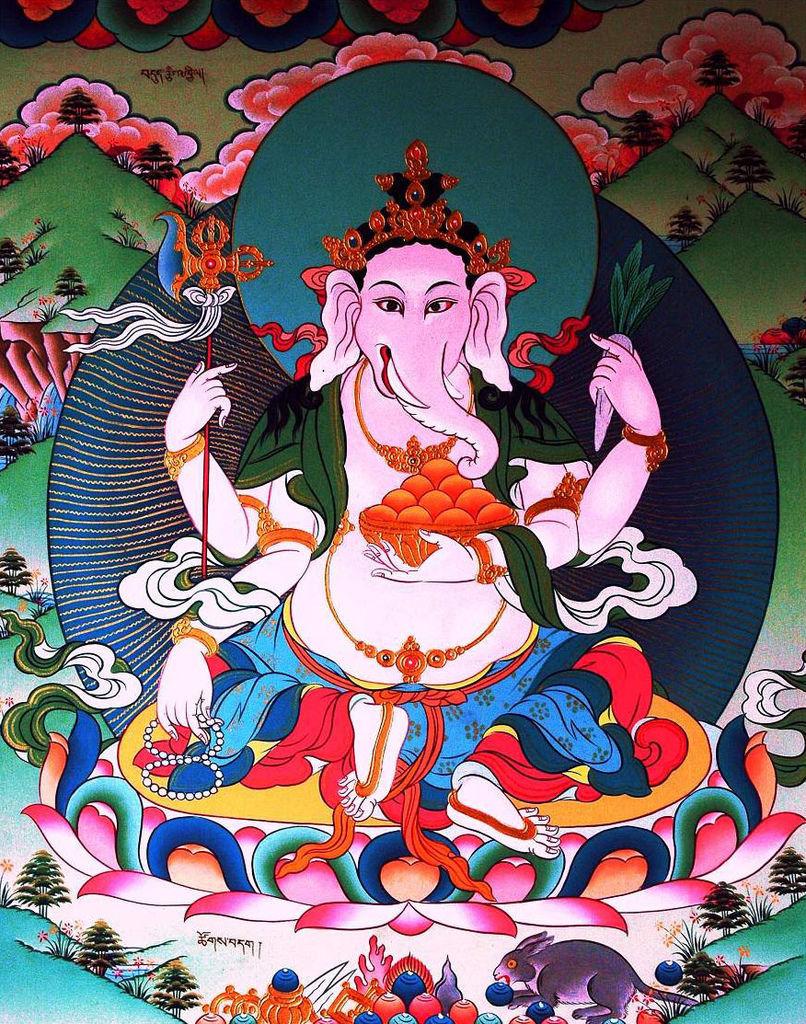 藏傳佛教諸象頭財神,俗稱歡喜天 (翻拍自網路)