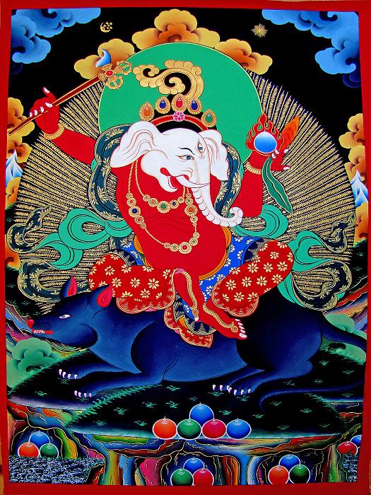 唐卡法相仍由尼泊爾人畫師以藏密和伏藏法的傳承為藍本所畫  (翻拍自網路)