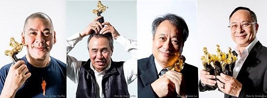 華語電影的世界級名導 (左起) 蔡明亮、侯孝賢、李安、杜琪峯,今年都將參與金馬獎活動 (金馬獎執委會提供)
