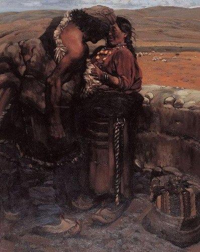 陳丹青《西藏組畫》之《牧羊人》曾以3200萬人民幣成交 (翻拍自網路)