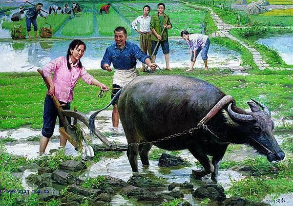 何紹教的《學耕》系列是「知青藝術」代表作之一,曾以人民幣690萬元成交