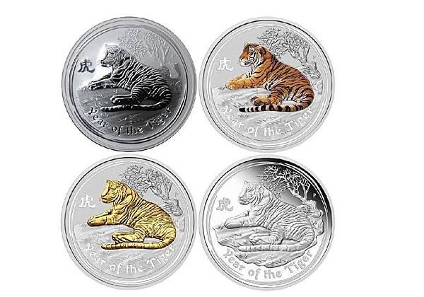 2010虎年紀念銀幣套組,定價雖高,卻是精鑄版,收藏可增值